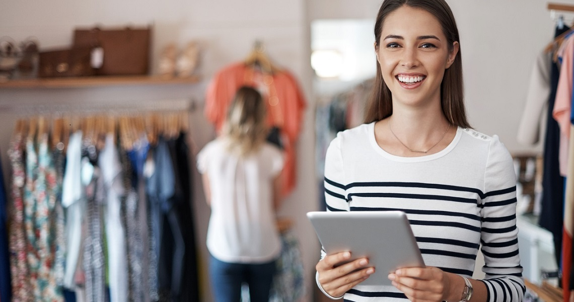 Woman following customs and supply chain trends